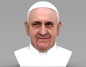 Pope Francis bust ready for full color 3D printing