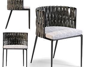 Chair with Armrest Cheerio Cushion 3D model