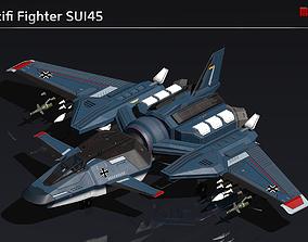 Scifi Fighter SUI45 3D model