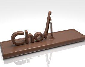 Chocolate Text Animation 3D