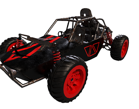 Buggy lowpoly 3D asset low-poly