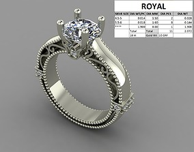 Diamond ring dual color 3D print model