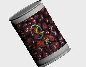 3D asset Canned Food -Baked Beans- -DamiCorp-
