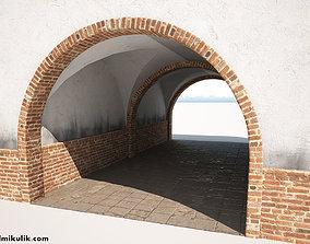 Building Gateway Low Poly 3D model