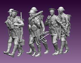 3D printable model British soldiers ww1