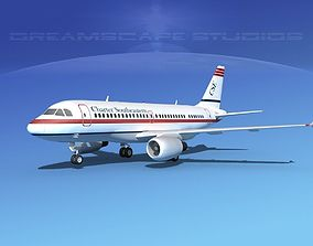 Airbus A319 Charter Southeastern 3D model
