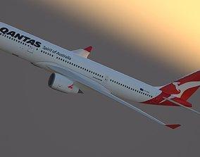 3D model Airbus A330-200 Qantas Livery