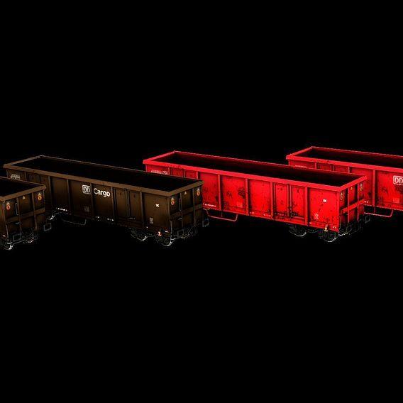 Offener Eisenbahn Güterwagen