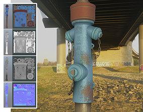 3D asset Blue Fire Hydrant VAG - Version 2 - Rusty