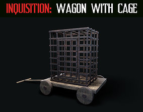 Inquisition - Wagon with Cage 3D asset realtime