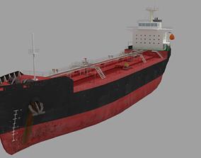 3D model Oil Tanker Ship Lowpoly
