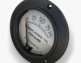 3D model Engine Oil pressure gauge
