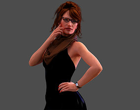 Skinny Mature Woman 3D model