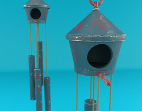 3D Wind Chime Bird House