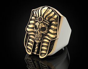 3D print model Pharaoh Skull Ring