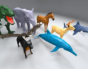 Low poly animal pack 3D model
