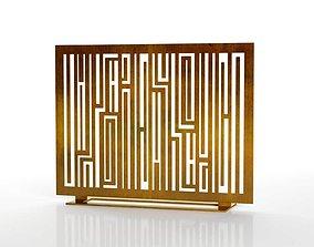 Fireplace Screen Rimbaud 3D geometric