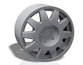 wheel 3D print model 10 spokes rim - llanta