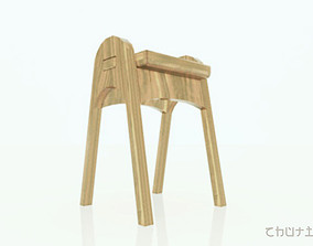 3D model stacking chairs