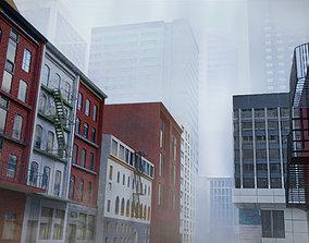3D 60 city Building Asset