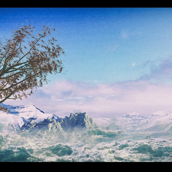 Phantasmic tree on the mountain