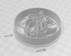 Flea Dog - Perro pulgoso cookie cutter 3D print model