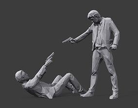 Mr White versus Mr Pink 3D asset