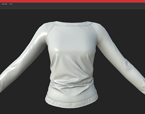 3D model low-poly longsleeve