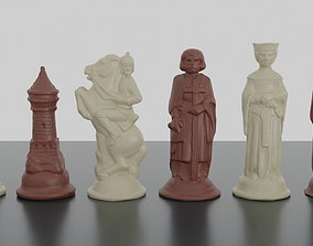 3D print model RENAISSANCE Chess Pieces OBJ 3MF blender