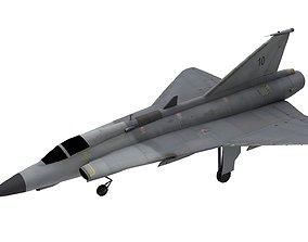 LowpolySaab 35 Draken Aircraft 3D asset