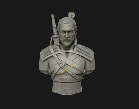 human 3D Sculpture of the witcher