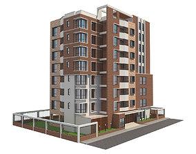 3D Apartment building 17