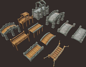 Medieval Bridge Pack 3D model