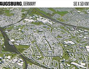 3D model Augsburg Germany