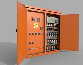 Electric Fuse Box Yellow 3D model