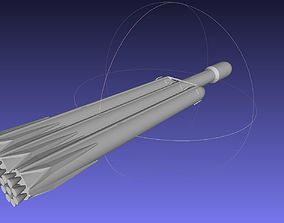 Space-X Falcon Heavy Aerodynamics Model rocket-engine