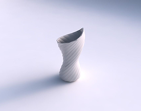 Vase vortex smooth with twisted bands 3D print model