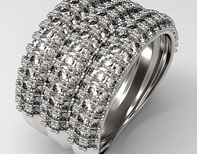 3D print model Pave Ring jewellery