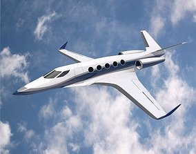 3D model Space Eagle concept aircraft