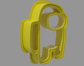 3D print model Among Us crewmate Coockie cutter