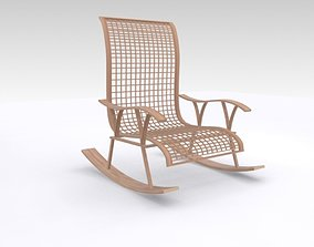 3D model VR / AR ready Wooden chair