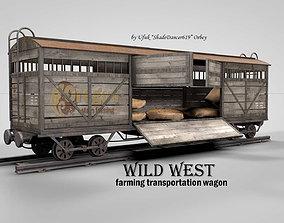 3D Wild West Farming Wagon