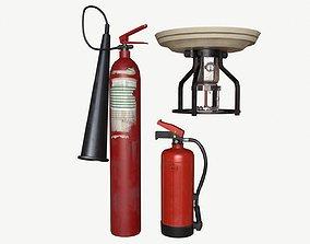 3D model Fire equipment collection 01 PBR