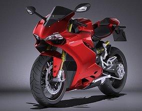 3D model Ducati 1299 Panigale S 2016 VRAY
