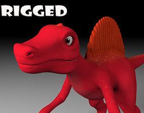 3D model Cartoon spinosaurus