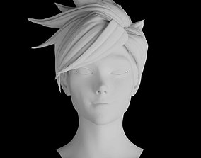 Overwatch Tracer Lifesize Head Sculpt 3D Print Files