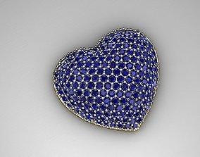 3D print model MGold036 - Beautiful Heart Pendant