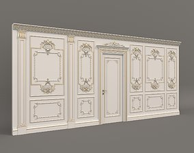 3D model European Style Interior Wall Decoration 2