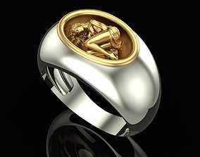 Ring Sleeping Girl 3D printable model