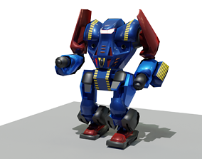 animated sci fi robot 3d model rigged and animated